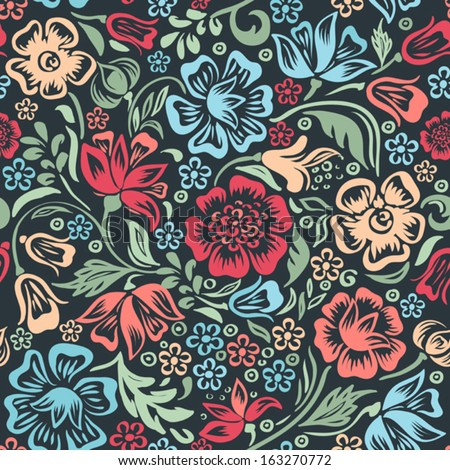 Colorful Floral Background Images Vector Floral Colorful Pattern