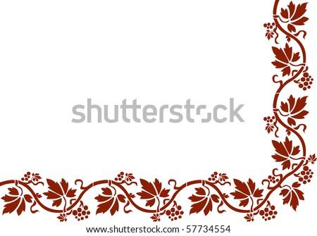 Vector floral composition. Wild grapes
