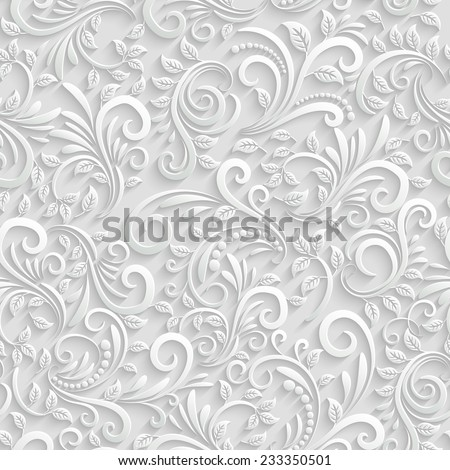 vector floral 3d seamless