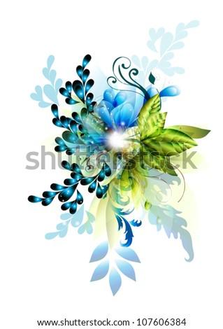 vector floral design - stock vector