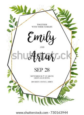 vector floral design card