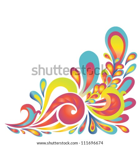 vector floral design colorful