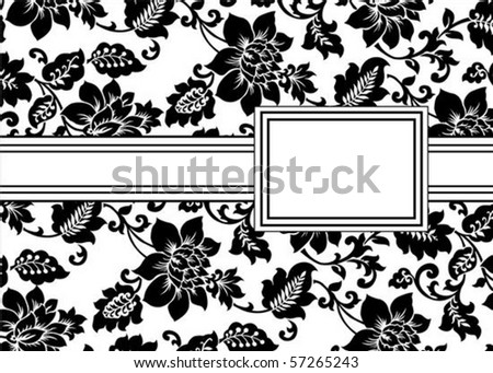 Vector floral frame. Easy to scale and edit. Pattern is included as seamless swatch