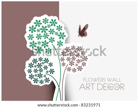 vector floral greeting card design.