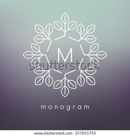 vector floral monogram modern