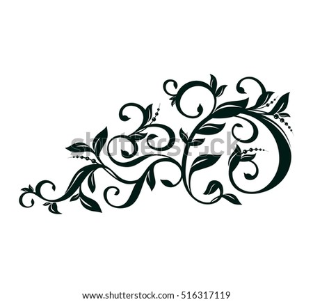 vector floral ornament ornaments for page decoration decorative