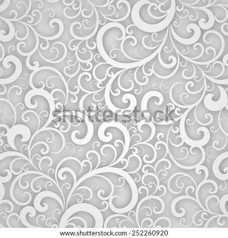 Background with floral paper swirls invitation download free vector floral pattern abstract 3d background for invitation cards banners placard and posters stopboris Images