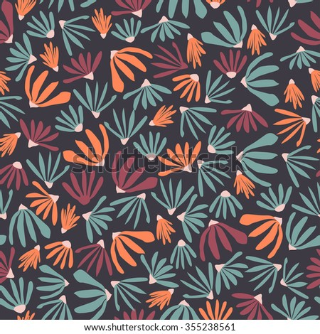vector floral pattern in doodle