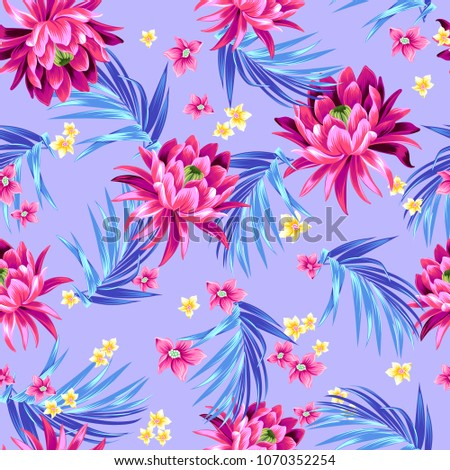 vector floral pattern seamless