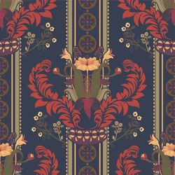 Vector floral pattern, victorian style. Floral bouquet with ornament.