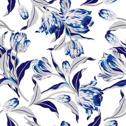 Vector floral watercolor texture pattern.Seamless pattern can be used for wallpaper,pattern fills,web page background,surface textures