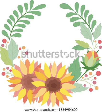 vector floral wreath with
