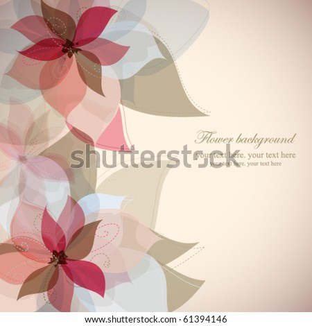 Vector flower background - stock vector