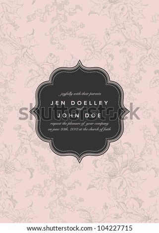 Vector Flower Background and Frame. Easy to edit. Perfect for invitations or announcements.