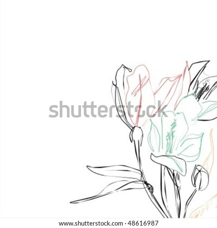 VECTOR  Flower background for design