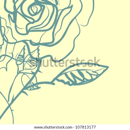 VECTOR  Flower background for design with roses