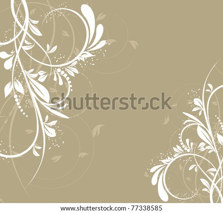 vector flower creative decorative abstract background