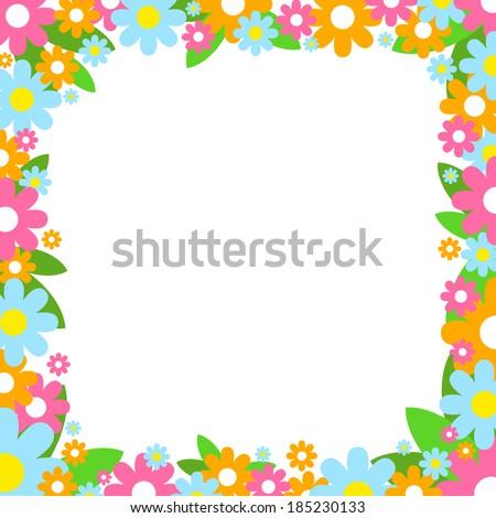 Vector Flower Frame - 185230133 : Shutterstock  Shutterstock Border Design Free Download
