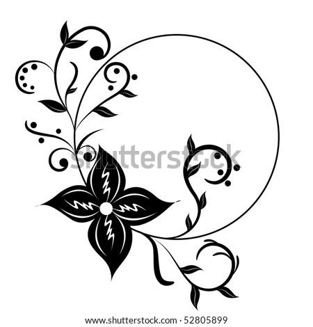 flower frame clipart. flower frame; clip-art