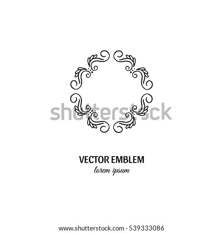 vector flower frame symbol