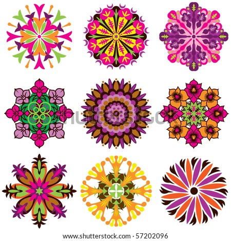 Vector Flower Icons