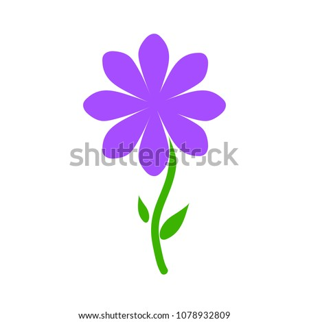 vector Flower illustration - nature floral plant isolated - art symbol