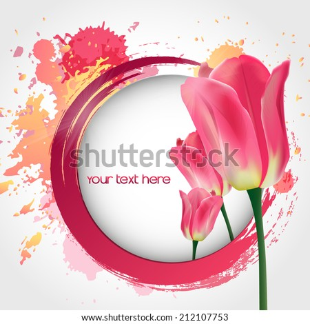 vector flower tulip vector