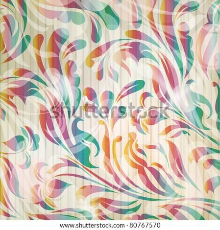 Vector flower wallpaper (vector eps 10)