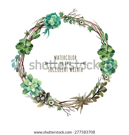 vector flower wreath of