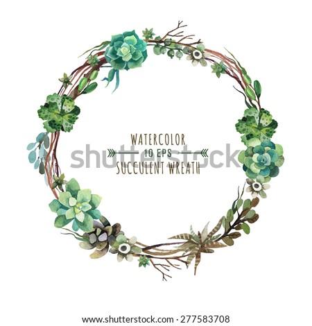 vector flower wreath of
