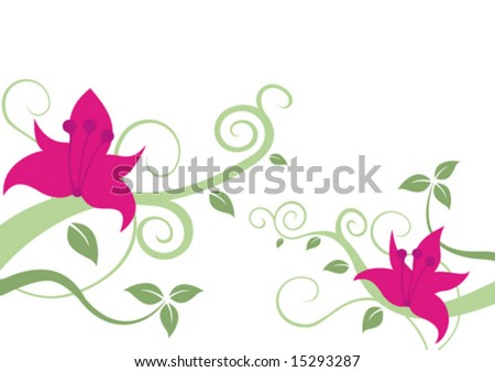 flowers background images. Vector flowers background