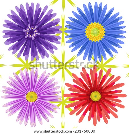 vector flowers colorful
