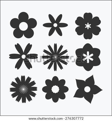 vector flowers,simple