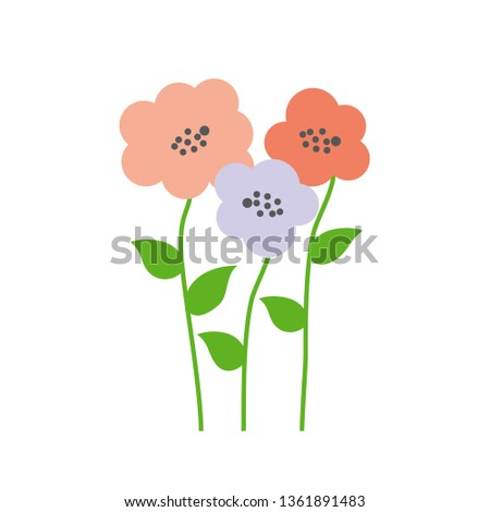 Vector flowers. Vector bouquet of flowers. Spring flowers. Bunch of flowers.  #1361891483