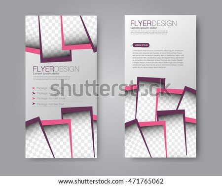 Business Brochure Flyer Template In Purple And Pink Colors