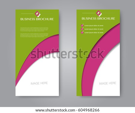 vector flyer and leaflet design set of two side brochure templates
