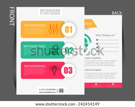 Vector Flyer brochure magazine cover template can be use for marketing