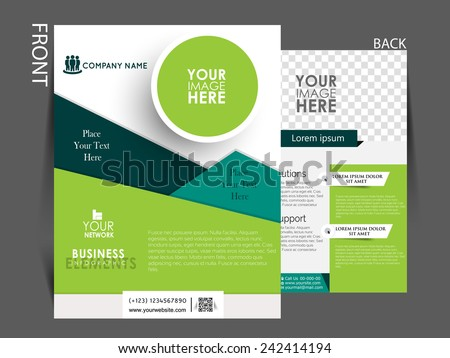 Modern company profile template download free vector art stock vector flyer brochure magazine cover template can be use for marketing flashek Gallery