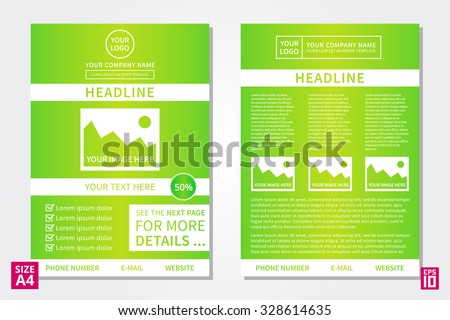 vector flyer poster leaflet annual report design template with sample text layout