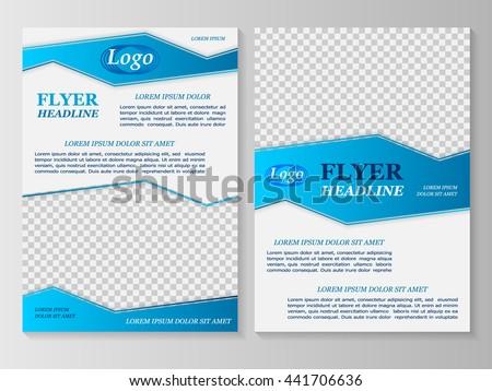 Vector flyer template design. For business brochure, leaflet or magazine cover. #441706636