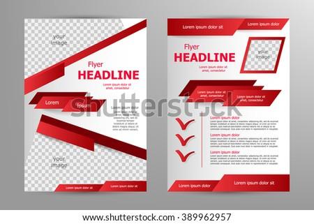 Vector Flyer Template Design For Business Brochure Leaflet Or – Red Flyer Template