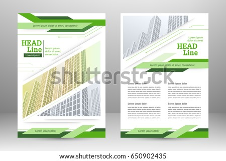 Vector Flyer Template Layout Design For Business Brochure Poster