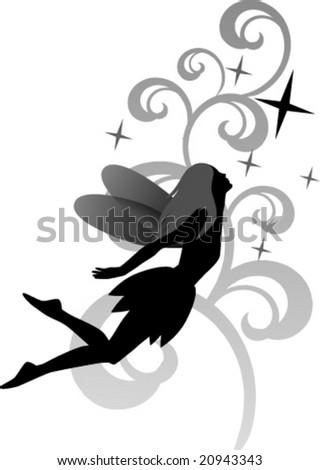 vector flying fairy