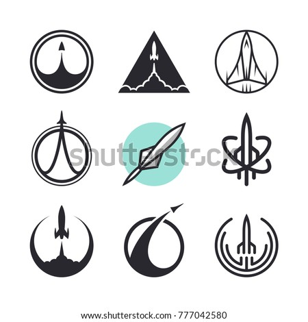 vector flying rockets  space