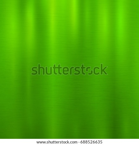 Vector foil grass green metallic texture with shiny scratched surface, polished imitation background. Brushed steel, aluminum or chrome glowing illustration for posters, ads, prints, banners