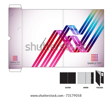 Vector Folder Design Template with Die-cut