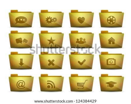 Vector folder icons - stock vector