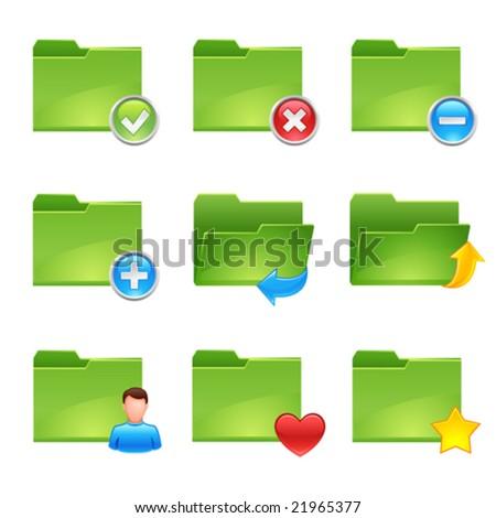 vector folder icons set2
