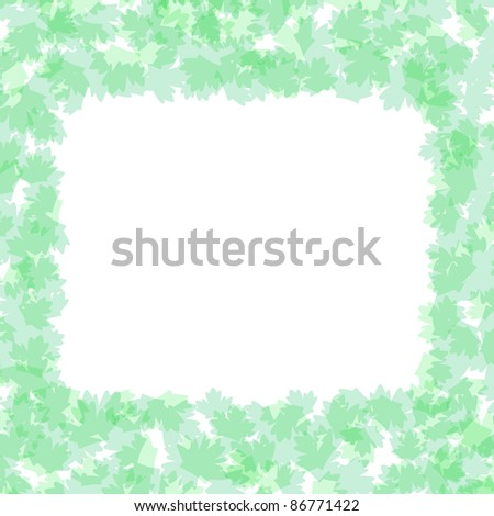 vector Foliage frame with summer nature leaves flower background