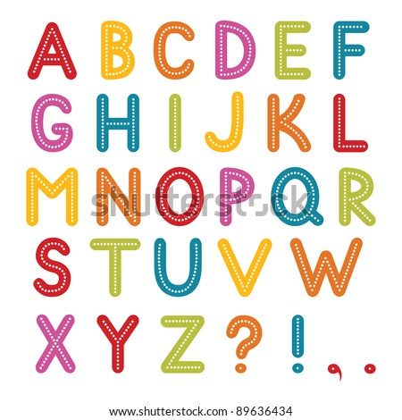 Vector font, A to Z alphabet